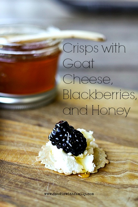 crisps with goat cheese