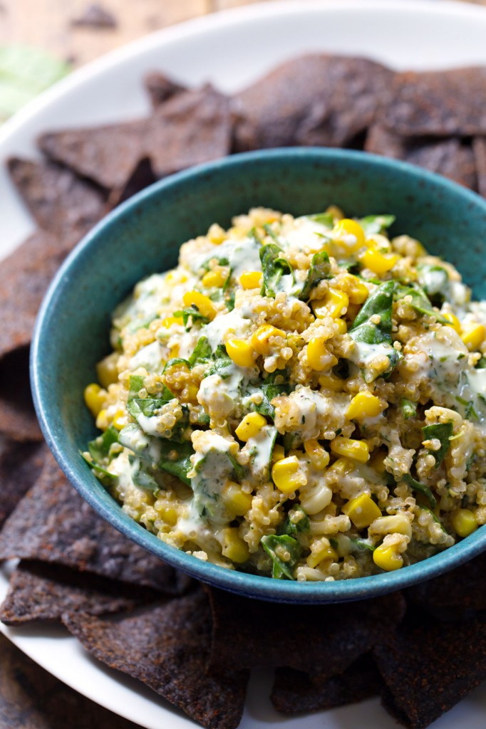 jalapeno quinoa corn dip