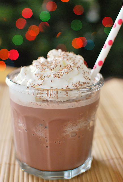 Holiday beverages: frozen hot chocolate. Delish!