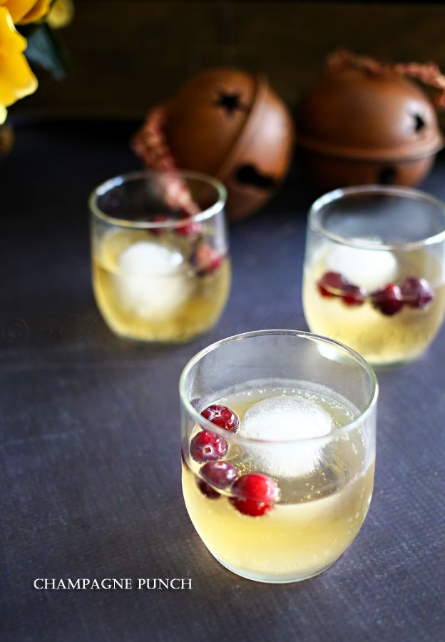 Champagne punch for those upcoming parties