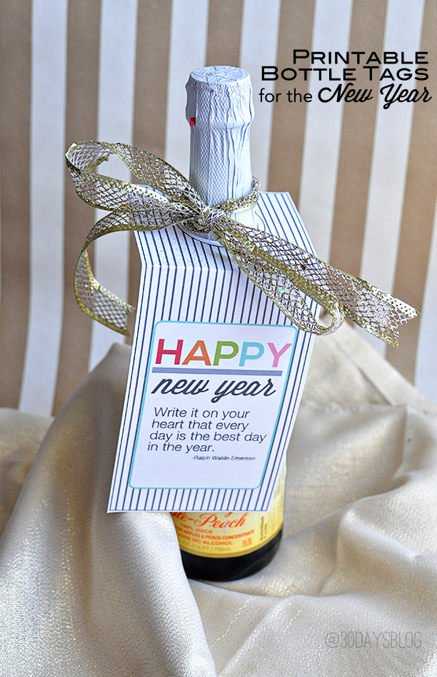 printable new years even bottle tags