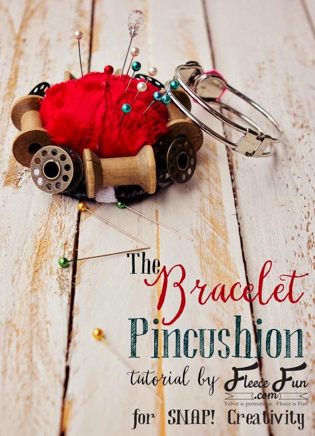 Bracelet pincushion tutorial via @fleecefun