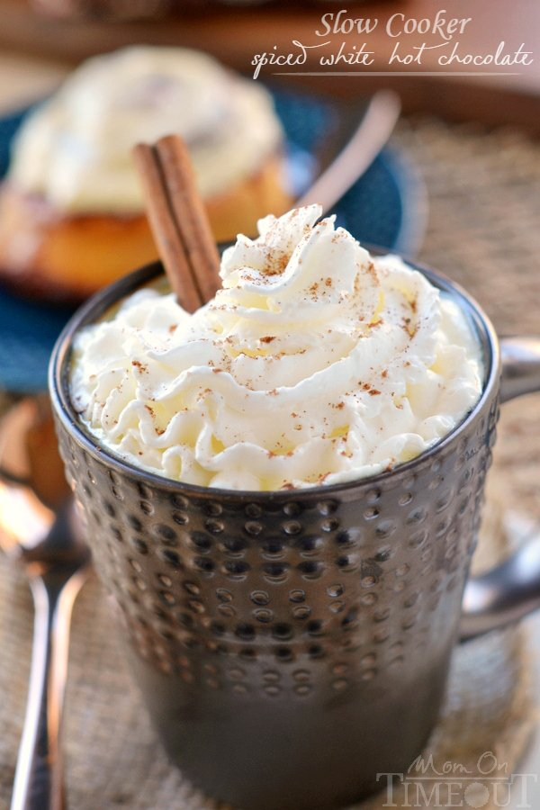 Slow cooker white hot chocolate recipe