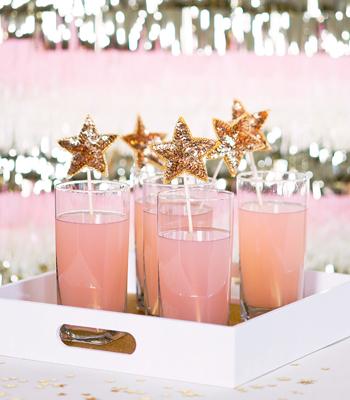 sequined star stir sticks