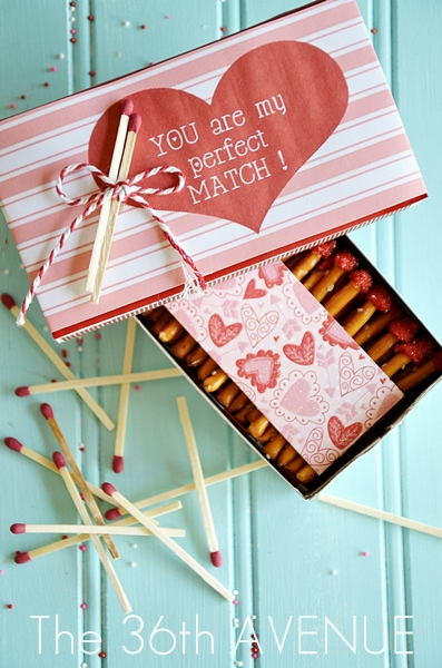 valentine edible box of matches