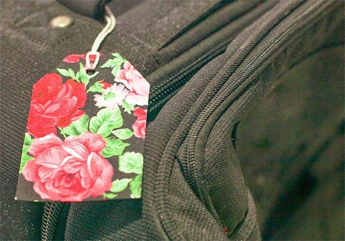 Easy way to make a pretty DIY luggage tag