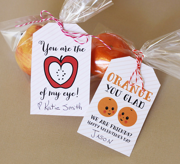 valentine fruit tags