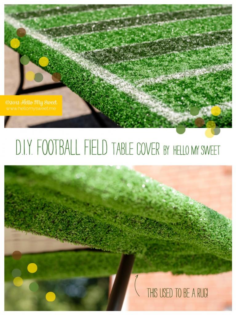DIY football field tablecover