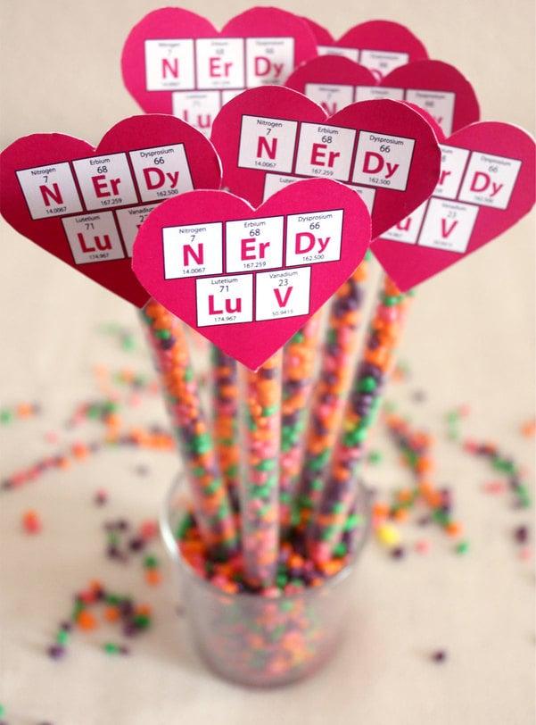 nerdy valentine straws