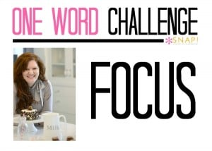 One Word Challenge: Tauni | Focus via @SnapConf