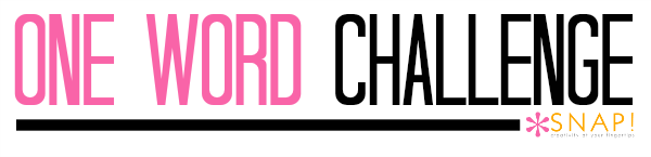 One Word Challenge via @SnapConf