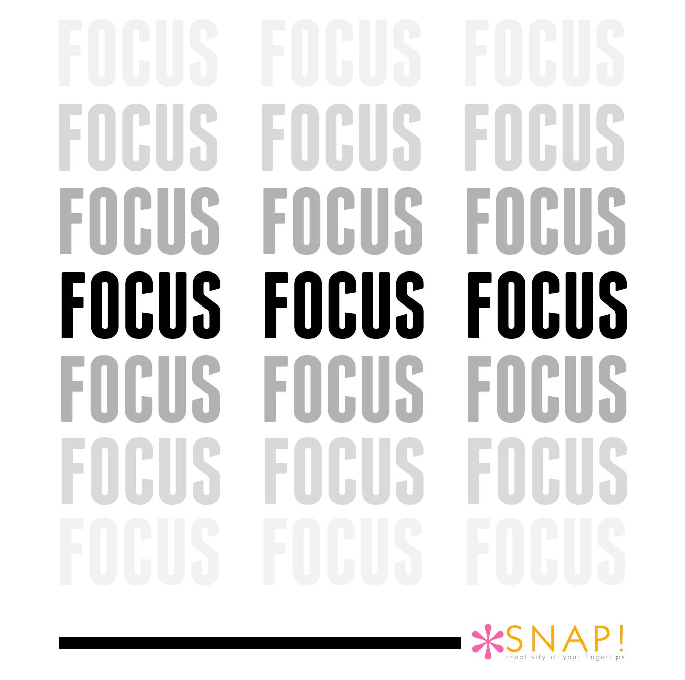 One word focus
