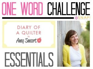 One Word Goal Diary of a Quilter