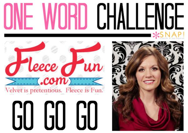 One word goal fleece fun