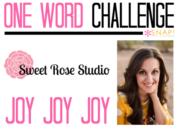 One Word Goal: Sweet Rose Studio