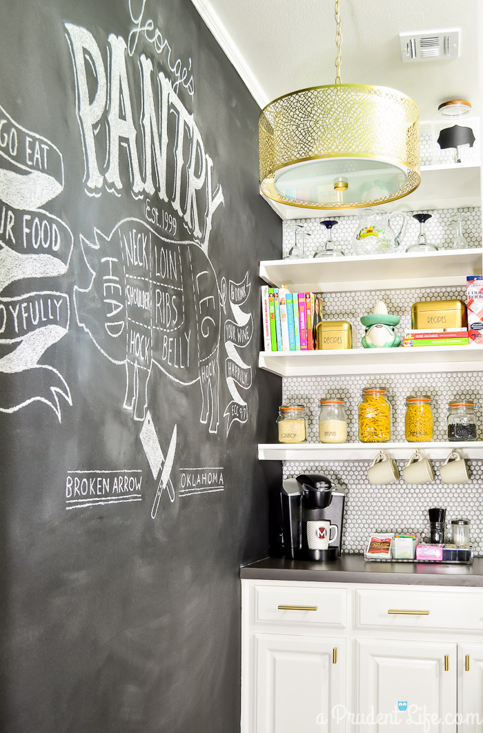 Vintage Modern Chic Pantry Makeover Reveal