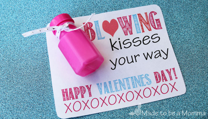 Valentine Printable  Bubbles