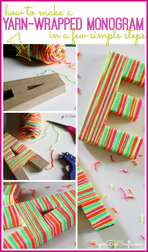 how to make a yarn wrapped monogram