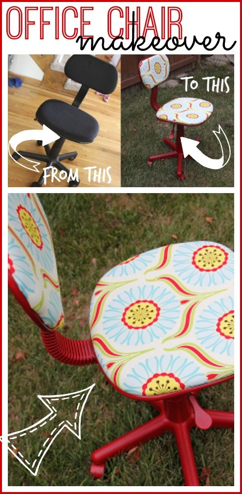 office chair redo upcycle makeover