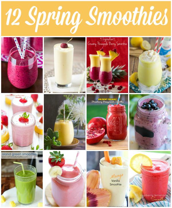 12 Spring Smoothie Recipes via Snap Creativity