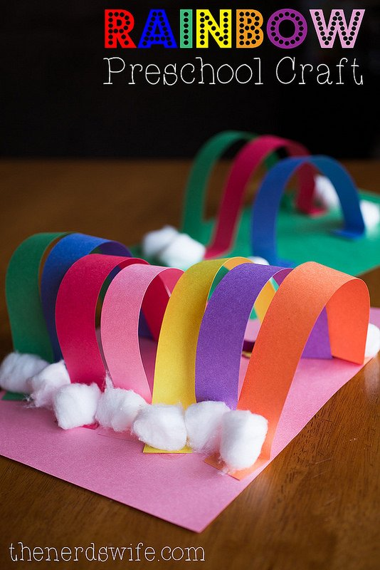 rainbow St Patricks Day craft for kids