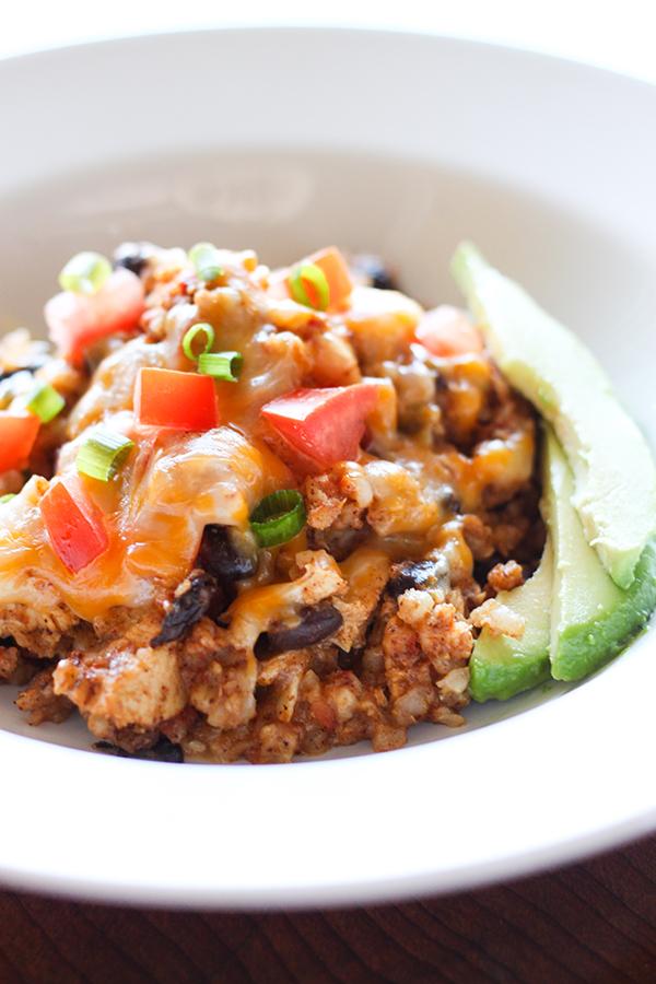 slow cooker chicken burrito bowl