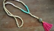 Teal-Pink-Wood-Tassel-Necklace-madeinaday.com_-650x458