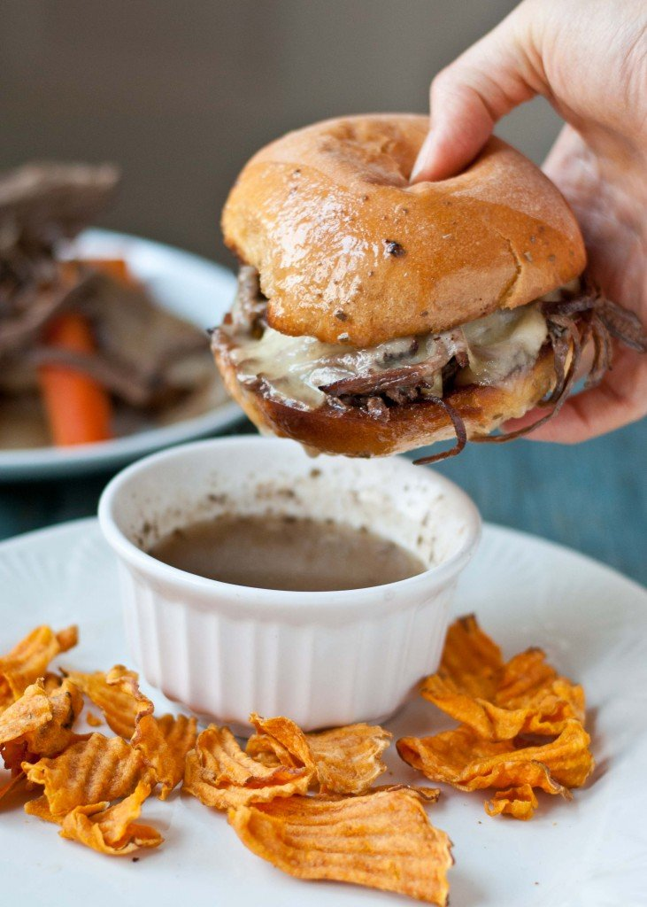 beef brisket french dip sandwiches