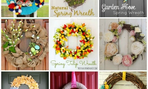 15 Delightful Spring Wreaths via Snap Creativity