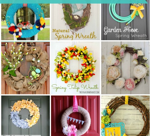 15 Delightful DIY Spring Wreaths