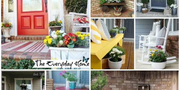 Spring Porch Decorating Ideas via Snap Creativity