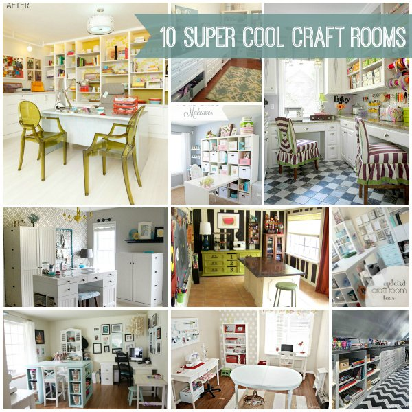 10 Super Cool Craft Rooms via Snap Creativity