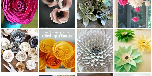 12 DIY Paper Flowers via Snap Creativity