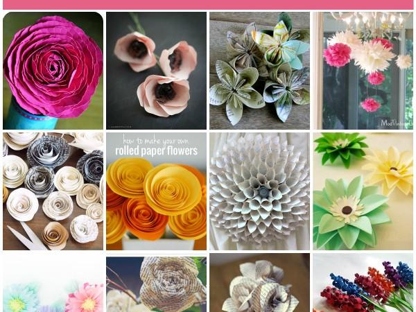12 DIY Paper Flowers