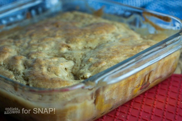 peach cobbler recipe - No Diets Allowed