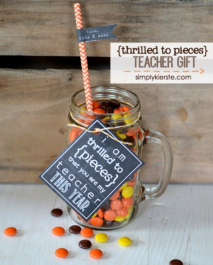 Reese's Pieces teacher gift idea