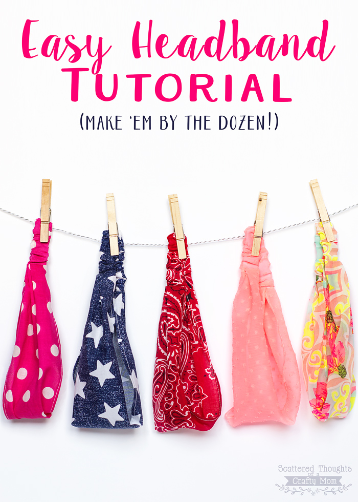 Easy headband tutorial. Perfect for summer hair.