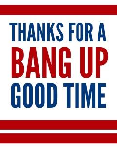 Thanks Bang Up Color
