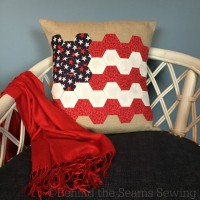 Hexagon flag pillow tutorial.