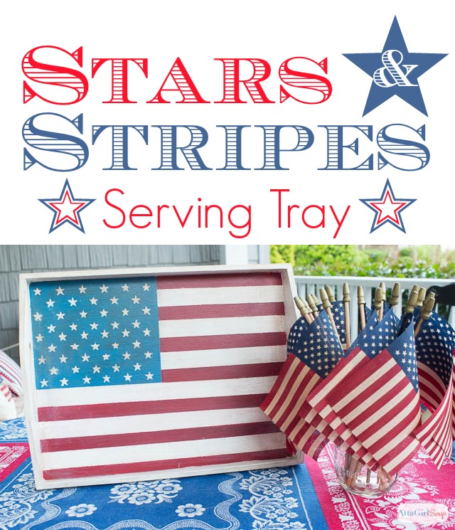 Hand-painted stars + stripes serving tray. Wouldn't this be lovely for lunch on the patio or for Fourth of July parties?