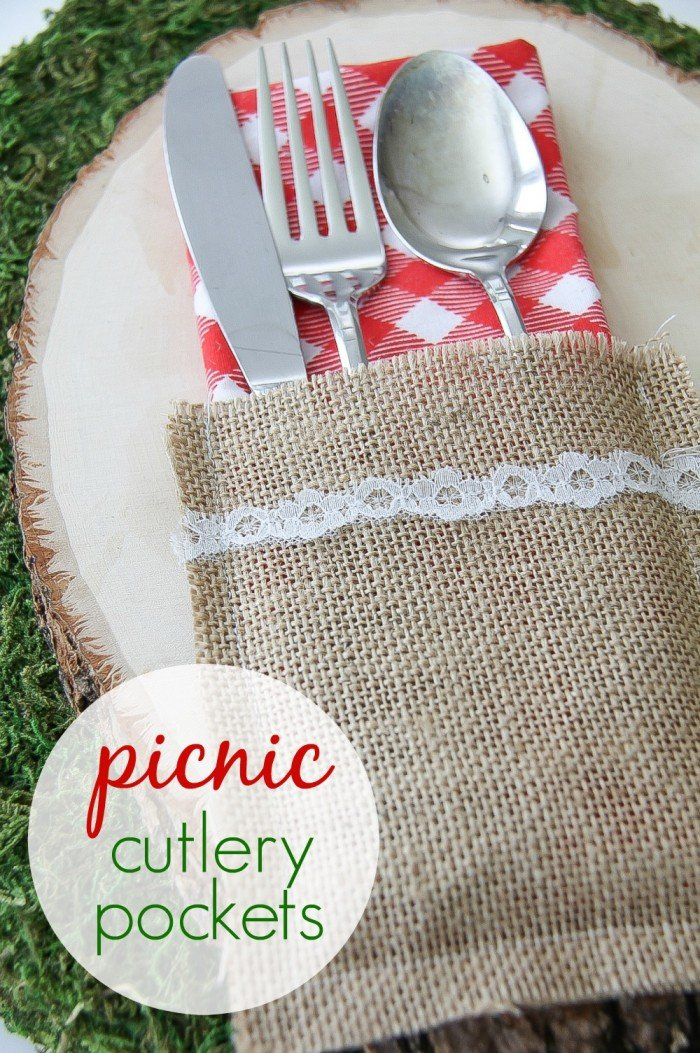 Silverware picnic pockets - tutorial