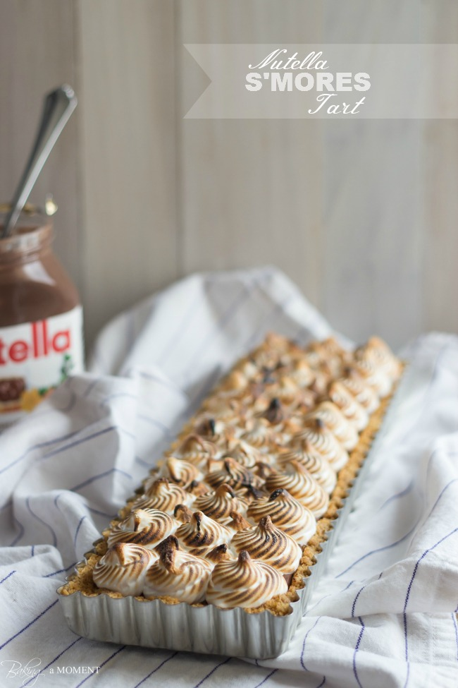 S'mores Nutella Tart Recipe. Sounds sinfully delicious. Can't wait to try.