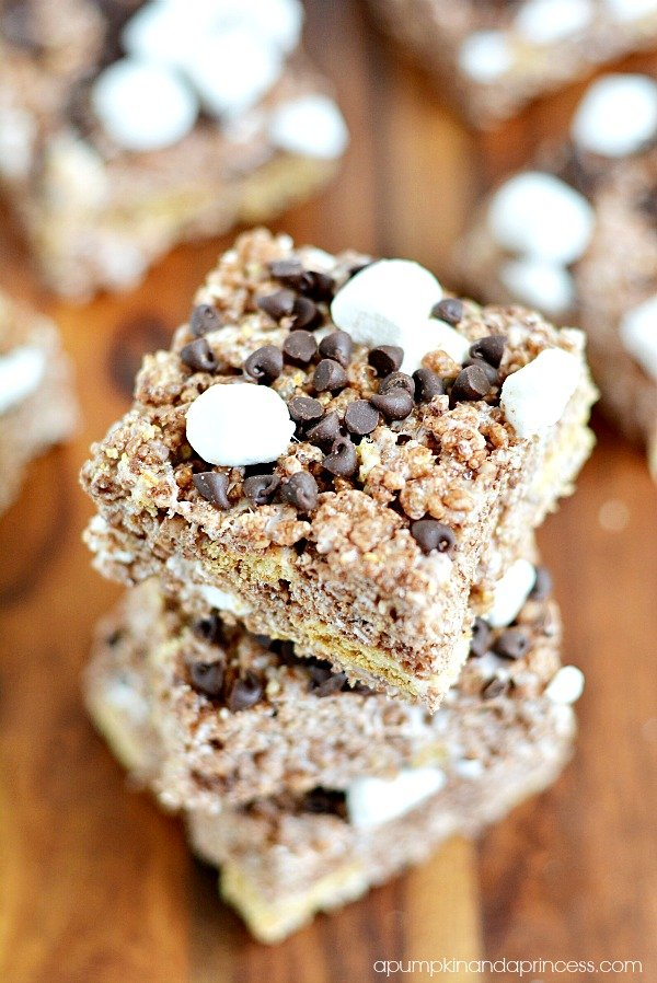 S'mores Rice Krispie Bars