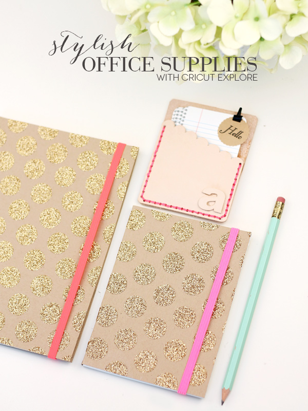 This post is filled with chic DIY office + school supply ideas.