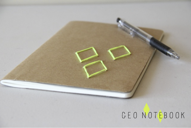 DIY embroidered notebook + more great DIY projects to dress up basic school/office supplies.