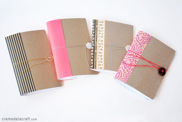 Cereal box notebook tutorial + more great ways to dress up basic office supplies.