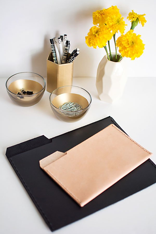 Create chic office supplies with these great ideas.