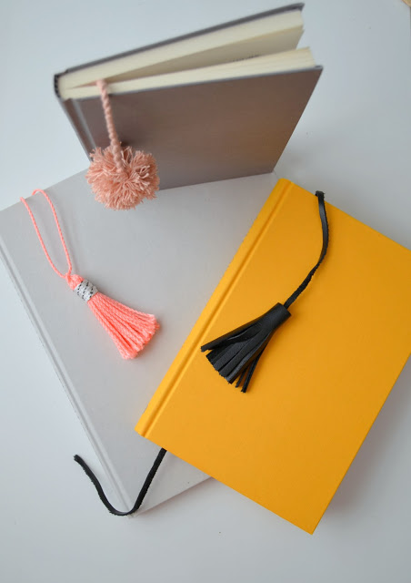 Tassel bookmark tutorial + more great DIY projects to dress up basic office supplies.