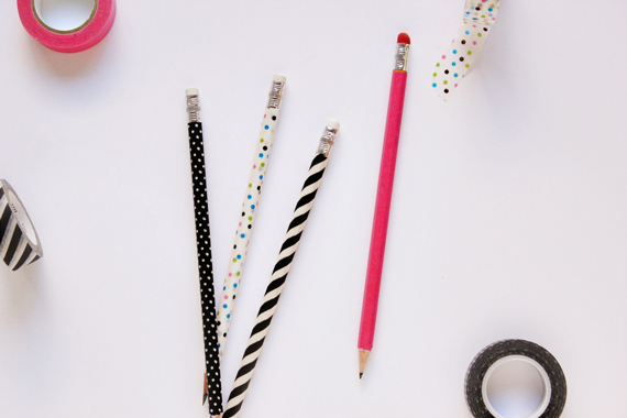 Washi tape pencils + more great ways to dress up basic office supplies.