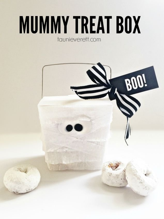 Halloween Mummy Treat Box and Printable